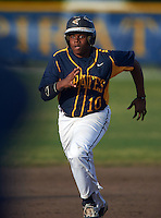 Boca Ciega Pirates Darius Blasingane (10) during a game against the Lakeland Spartans at Boca Ciega High School on March 2, 2016 in St. Petersburg, Florida.  Boca Ciega defeated Lakewood 2-1.  (Mike Janes/Four Seam Images)