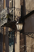 Corso Vittorio Emanuele II in Bosa,  Provinz Oristano, West - Sardinien, Italien