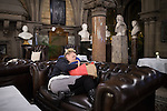 © Joel Goodman - 07973 332324 . 24/06/2016 . Manchester , UK . People sleeping in the tea room at Manchester Town Hall at the EU referendum at Manchester Town Hall . Photo credit : Joel Goodman