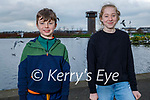 Eoin and Grace Riley enjoying the Tralee Bay Wetlands on Saturday.