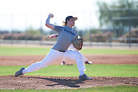 Ivan Keil (49), from Anchorage, Alaska, while playing for the Tigers during the Under Armour Baseball Factory Recruiting Classic at Red Mountain Baseball Complex on December 28, 2017 in Mesa, Arizona. (Zachary Lucy/Four Seam Images)