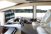 white leather boat chairs