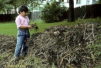 HB03-086x  Child at compost pile