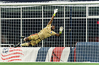 FOXBOROUGH, MA - AUGUST 5: Nick Holliday #24 of North Carolina FC dive during a game between North Carolina FC and New England Revolution II at Gillette Stadium on August 5, 2021 in Foxborough, Massachusetts.