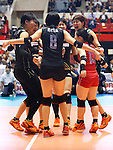 Japan Women's team group (JPN), AUGUST 27, 2015 - Volleyball : FIVB Women's World Cup 2015 1st Round between Japan 3-2 Dominican Republic  in Tokyo, Japan. (Photo by Sho Tamura/AFLO SPORT)