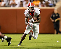 KNOXVILLE, TN - OCTOBER 5: Zamir White #3 of the Georgia Bulldogs runs with the ball during a game between University of Georgia Bulldogs and University of Tennessee Volunteers at Neyland Stadium on October 5, 2019 in Knoxville, Tennessee.