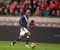 DaMarcus Beasley in action against the Netherlands. .The USA men fell to the Netherlands 2-1 at Amsterdam ArenA, Wednesday, March 3, 2010.