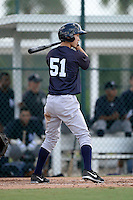 New York Yankees designated hitter Hyo-Joon Park (51) during an Instructional League game against the Pittsburgh Pirates on September 18, 2014 at the Pirate City in Bradenton, Florida.  (Mike Janes/Four Seam Images)