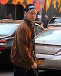 NEW YORK, NY - JANUARY 31: Actor Bill Murray seen outside the 'Late Show with David Letterman' at Ed Sullivan Theater on January 31, 2012 in New York City.
