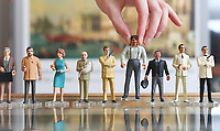 """BNPS.co.uk (01202 558833)<br /> Pic: ZacharyCulpin/BNPS<br /> <br /> Pictured: The Corgi Icon Figures that feature in the sought-after Bond sale. From left Q, Drax, Moneypenny, Blofeld, a safari suited Roger Moore as 007, Jaws, Odd Job, Scaramanga, and Sean Connery as 007.<br /> <br /> An exact replica of the secret weapons case used by Sean Connery's 007 in From Russia With Love has emerged for sale for £14,000. <br /> <br /> The black attache case is one of only 100 models ever produced and has been described by experts as the """"holy grail"""" of James Bond memorabilia. <br /> <br /> The replica is to be sold alongside dozens of sought-after Bond items, including a set of 21 hand painted Corgi model figures, at Ewbank's Auctions of Woking, Surrey."""