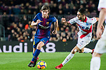 Sergi Roberto Carnicer (L) of FC Barcelona is tackled by Ruben Sobrino Pozuelo of Deportivo Alaves during the La Liga 2017-18 match between FC Barcelona and Deportivo Alaves at Camp Nou on 28 January 2018 in Barcelona, Spain. Photo by Vicens Gimenez / Power Sport Images