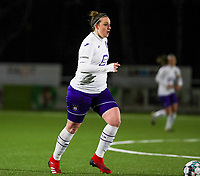 Britt Vanhamel (4) of Anderlecht pictured during a female soccer game between  Racing Genk Ladies and RSC Anderlecht on the 16 th matchday of the 2020 - 2021 season of Belgian Scooore Womens Super League , friday 12 th of March 2021  in Genk , Belgium . PHOTO SPORTPIX.BE   SPP   SEVIL OKTEM
