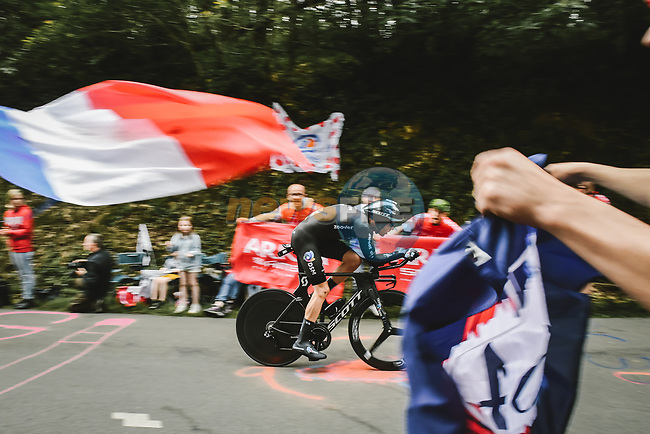 Casper Phillip Pedersen (DEN) Team DSM in action during Stage 5 of the 2021 Tour de France, an individual time trial running 27.2km from Change to Laval, France. 30th June 2021.  <br /> Picture: A.S.O./Pauline Ballet | Cyclefile<br /> <br /> All photos usage must carry mandatory copyright credit (© Cyclefile | A.S.O./Pauline Ballet)