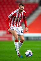 21st November 2020; Bet365 Stadium, Stoke, Staffordshire, England; English Football League Championship Football, Stoke City versus Huddersfield Town; Nick Powell of Stoke City has his eye on the ball