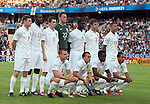 England. Back row from left: James Milner, Fabrice Muamba, Adam Johnson, Scott Loach, Micah Richards, Kieran Gibbs. Front row from left: Lee Cattermole, Mark Noble, Nedum Onuoha, Theo Walcott. The Final Germany-England, 06292009, U21 EURO 2009 in Sweden