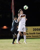 The Winthrop University Eagles beat the UNC Asheville Bulldogs 4-0 to clinch a spot in the Big South Championship tournament.  Mason Lavallet (9), Emil Gonsalvez (7)