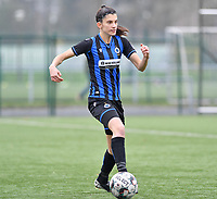 Febe Vanhaecke (3 Brugge) pictured during a female soccer game between Club Brugge Dames YLA and Eendracht Aalst Ladies on the 9 th matchday of the 2020 - 2021 season of Belgian Scooore Womens Super League , saturday 12 December 2020  in Brugge , Belgium . PHOTO SPORTPIX.BE | SPP | DAVID CATRY