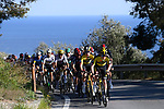 Team Jumbo-Visma lead the way as they climb the Cipressa during the 112th edition of Milan-San Remo 2021, running 299km from Milan to San Remo, Italy. 20th March 2021. <br /> Photo: LaPresse/Fabio Ferrari | Cyclefile<br /> <br /> All photos usage must carry mandatory copyright credit (© Cyclefile | LaPresse/Fabio Ferrari)