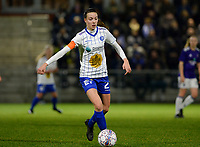 20180126 - OOSTAKKER , BELGIUM : Gent's Silke Vanwynsberghe pictured during the quarter final of Belgian cup 2018 , a womensoccer game between KAA Gent Ladies and RSC Anderlecht , at the PGB stadion in Oostakker , friday 27 th January 2018 . PHOTO SPORTPIX.BE   DAVID CATRY