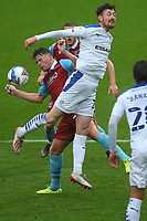 Scunthorpes Lewis Spence battles with Tranmeres Oliver Banks during the Sky Bet League 2 match between Tranmere Rovers and Scunthorpe United at Prenton Park, Birkenhead, England on 3 October 2020. Photo by Chris Donnelly/MI News /PRiME Media Images