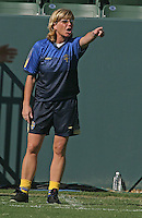 Coach Marika Domanski Lyfors, Germany 2-1 over Sweden at the  WWC 2003 Championships.