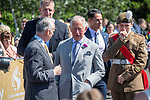 Prince Charles,  Prince of Wales visits Victoria Park in Swansea today to help celebrate the 50th anniversary of Swanseas achieving City status.