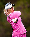 TAOYUAN, TAIWAN - OCTOBER 21: Morgan Pressel of USA tees off on the 14th hole during day two of the LPGA Imperial Springs Taiwan Championship at Sunrise Golf Course on October 21, 2011 in Taoyuan, Taiwan. (Photo by Victor Fraile/Getty Images)
