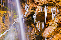 Waterfall in Salinas; Hoya de Huesca; Huesca; Aragon; Spain