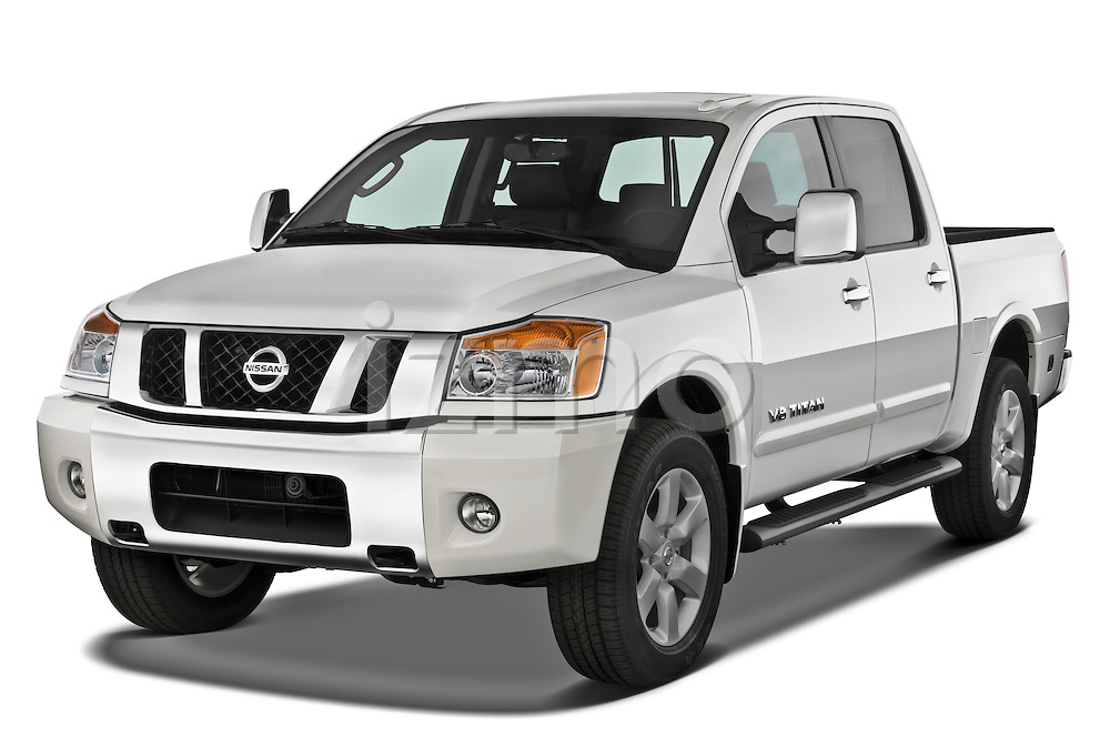Front three quarter view of a 2008 Nissan Titan.
