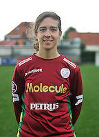 20130824 - Zulte , Belgium :  Lindsey De Rijcke , Saturday 24 August 2013. Teampictures <br /> PHOTO DAVID CATRY / Nikonpro.be