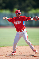 Philadelphia Phillies Brayan Gonzalez (9) during an Instructional League game against the Toronto Blue Jays on October 1, 2016 at the Carpenter Complex in Clearwater, Florida.  (Mike Janes/Four Seam Images)