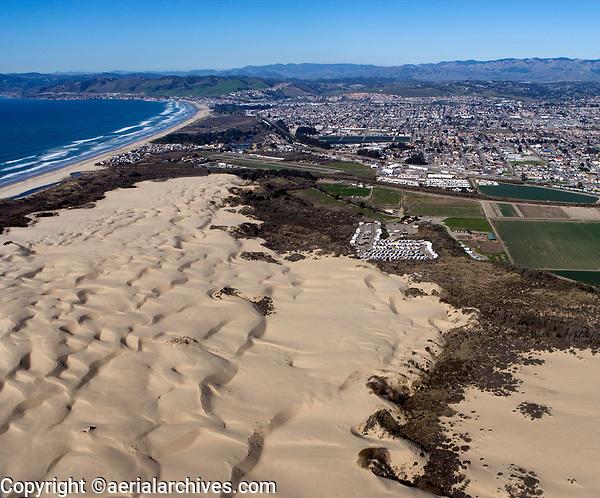 aerial photograph of the Pismo Beach dunes at Oceano, San Luis Obispo County, California