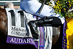 November 7, 2020 : Audarya, ridden by Pierre-Charles Boudot, wins the Maker's Mark Filly & Mare Turf on Breeders' Cup Championship Saturday at Keeneland Race Course in Lexington, Kentucky on November 7, 2020. Jessica Morgan/Breeders' Cup/Eclipse Sportswire/CSM