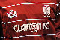 Clapton FC Ultras Shirt - Clapton vs Ilford - Essex Senior League Football at the Old Spotted Dog Ground, Upton Park, London - 01/10/13 - MANDATORY CREDIT: Gavin Ellis/TGSPHOTO - Self billing applies where appropriate - 0845 094 6026 - contact@tgsphoto.co.uk - NO UNPAID USE
