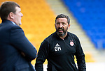 St Johnstone v Aberdeen…15.09.18…   McDiarmid Park     SPFL<br />Derek McInnes has words with Tommy Wright<br />Picture by Graeme Hart. <br />Copyright Perthshire Picture Agency<br />Tel: 01738 623350  Mobile: 07990 594431