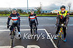 Chain Gang Cycle Club members cycling for their Kerry Hospice fundraiser on Saturday, l to r: John Murray (Chairman), Avril Hewitt and Dave Elton.