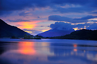 SC - Prov. LOCHABER<br /> After a beautiful sunset Loch Linnhe is gleaming  in velvet blue<br /> <br /> Full size: 69,1MB