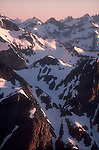 Ptarmigan Traverse, North Cascades National Park from Mount Baker Snoqualmie National Forest, Cascade Mountains, Pacific Northwest, Washington State, U.S.A., North America,
