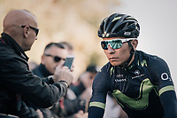 Nairo Quintana (COL/Movistar) on his way to sign-on<br /> <br /> Il Lombardia 2017<br /> Bergamo to Como (ITA) 247km