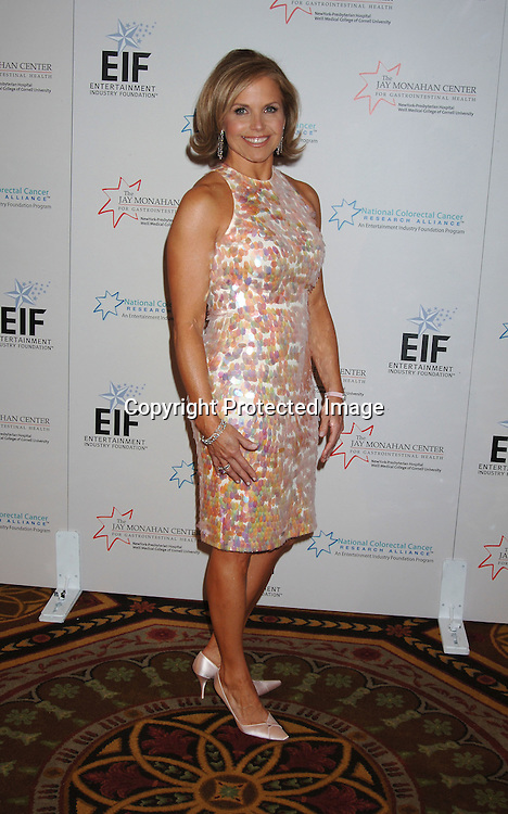 Katie Couric ..at The Entertainment Industry Foundation National Colorectal Cancer Research Alliance and The Jay Monahan Center for Gastrointestinal Health Hollywood Meets Motown Benefit on March 15, 2006 at The Waldorf Astoria Hotel. ..Robin Platzer, Twin Images