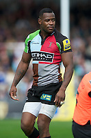 Ugo Monye of Harlequins during the Aviva Premiership match between Harlequins and Saracens at the Twickenham Stoop on Sunday 30th September 2012 (Photo by Rob Munro)