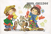 Alfredo, CHILDREN, paintings, BRTOCH11344,#K# Kinder, niños, nostalgisch, nostálgico, illustrations, pinturas
