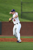 Jacob Berry (15) (LSU) of Team Stars during a game against Team Stripes on July 6, 2021 at Pioneer Park in Greeneville, Tennessee. (Tracy Proffitt/Four Seam Images)