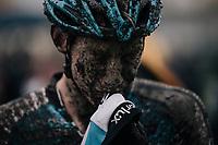 Michael Vanthourenhout's (BEL/Marlux-Napoleon Games) post-race face<br /> <br /> Elite Men's race<br /> Superprestige Gavere / Belgium 2017