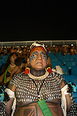 Chief Jakalo Kuikuro watches the opening ceremony at the first ever International Indigenous Games, in the city of Palmas, Tocantins State, Brazil. Photo © Sue Cunningham, pictures@scphotographic.com 23rd October 2015