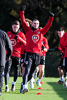 Pictured: Gareth Bale of Wales in action during the Wales Training Session at The Vale Resort in Cardiff, Wales, UK. Monday 11 November 2019