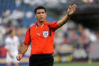 Referee Walter Quesada. The United States and Haiti played to a 2-2 tie during a CONCACAF Gold Cup Group B group stage match at Gillette Stadium in Foxborough, MA, on July 11, 2009. .