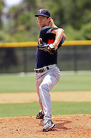 Mark Trau (64) Pitcher for the GCL Twins delivers a pitch  during a game against the GCL Rays on July 16th, 2010 at Charlotte Sports Park in Port Charlotte Florida. The GCL Twins are the the Gulf Coast Rookie League affiliate of the Minnesota Twins. Photo by: Mark LoMoglio/Four Seam Images