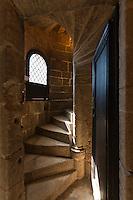 Europe/France/Aquitaine/24/Dordogne/Périgord Noir/Sarlat-la-Canéda: Hôtel de Maleville (fin XVIe). Détail de l'escalier