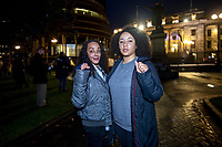 Organiser Tammie Crystal and Nicole Inskeep. Black Lives Matter George Floyd memorial vigil at Parliament in Welington, New Zealand on Monday, 1 June, 2020. Photo: Dave Lintott / lintottphoto.co.nz